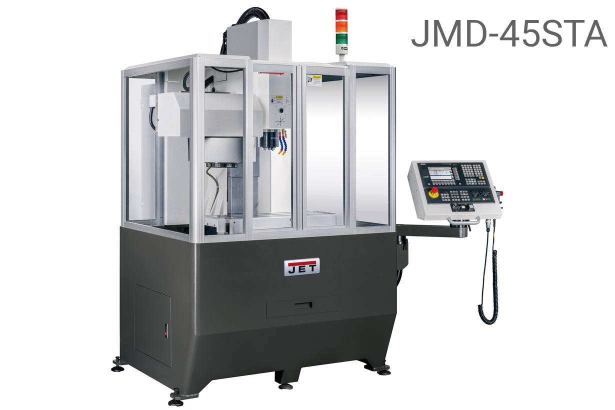 JET JMD-45ST CNC Фрезерный станок с ЧПУ Siemens 808D (JMD-45STA - Siemens 808D Advanced, JMD-45FT - Fanuc 0i)