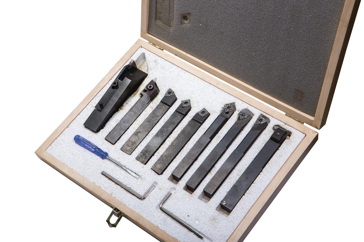 Фото анонса: Набор из 9 резцов 12x10 мм с мех.креплением твердосплавных пластин