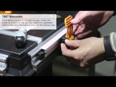 How to Tighten the Fence clamps on a Triton TWX7 Workcentre